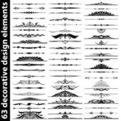 Conjunto de elementos de diseño decorativo — Vector de stock