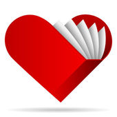 Srdce tvar knižní ilustrace — Stock vektor