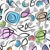 хаотические линии и пятна иллюстрация бесшовный фон — Cтоковый вектор