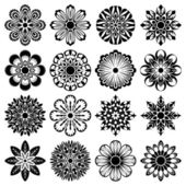 Abstract floral shapes — Stock Vector