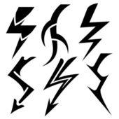 Tattoo lightning set — Stock Vector