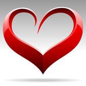 Srdce tvar vektorového objektu — Stock vektor