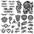 Stock Vector: Tattoo set