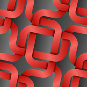 Intertwist red tapes on dark background seamless pattern — Stock Vector