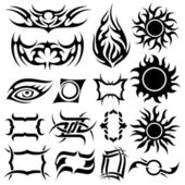 Tattoo set — Stock Vector