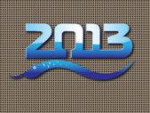 Capodanno 2013 dello sfondo di serpente — Vettoriale Stock
