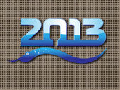 Nový rok 2013 had zázemí — Stock vektor