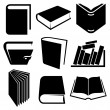 Stock Vector: Book icons set