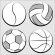 Sport balls set — Stock Vector