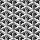 Patrón sin soldadura tubos cuadrados — Vector de stock