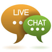 Live chat balloon sign — Stock Vector