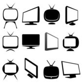 Tv icons and signs — Stock Vector
