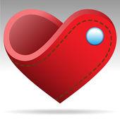 Forma el corazón cartera — Vector de stock
