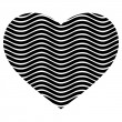 Black and white heart vector — Stock Vector