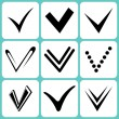 Stock Vector: Tick signs