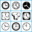 Royalty-Free Stock Vector Image: Clock icons