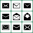 Mail icons — Stock Vector #23370642