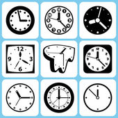 Clock icons — Stockvektor