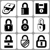 Lock icons — Stockvector