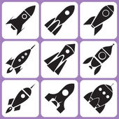 Rocket icons — Vector de stock