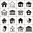 House icon set — Stock Vector #24445371