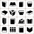 16 Buch Icons set — Stockvektor