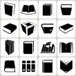 16 book icons set — Stockvektor