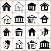 Conjunto de ícones de casa — Vetor de Stock