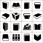 16 book icons set — Stock Vector