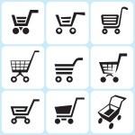 Shopping cart icons — Stock Vector #25128513