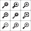 Magnifier icons — Stock Vector