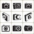 Photo camera icon set — Stock Vector