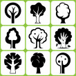 Stock Vector: Tree icon set