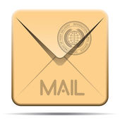 Mail envelope icon — Stock Vector