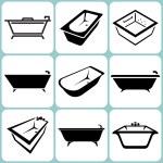 Baths icons set — Stock Vector #34663609