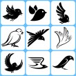 Birds icons set — Stock Vector