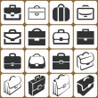 Briefcase icons set — Stock Vector