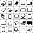 Computers notebooks and tablets icon set — Stock Vector