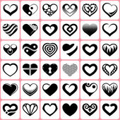 36 heart icons set — Stock Vector