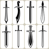 Sword icons set — Stock Vector