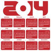 New year 2014 calendar — Stock Vector