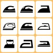 Iron Icons Set — Stock Vector