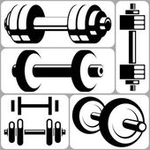Dumbbell Set — Stock Vector