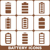 Battery Icons Set — Stock Vector