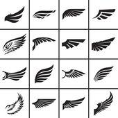 Wings design elements set — Stock Vector