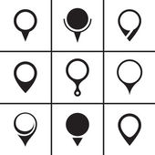 Navigation map pointer icons set — Vettoriale Stock