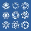 Set of snowflakes — Stock Vector #6671081