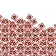 Red squares pattern - Stock Photo