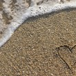 Expression of love in beach — Stock Photo #31250805