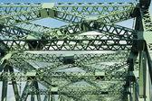 Green structure bridge background — Stock Photo